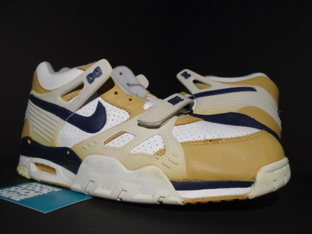 2001 OG NIKE AIR TRAINER III 3 3 III B MEDICINE BALL 1 BIANCA NAVY BLU WHEAT TAN DS 12 4b7a88