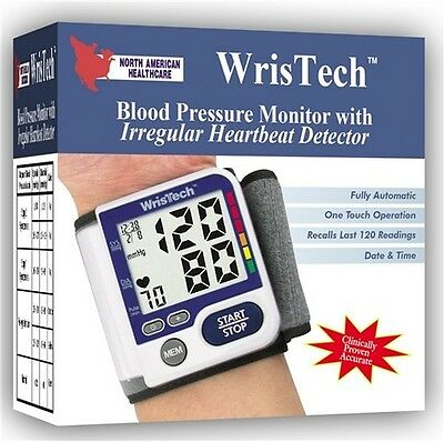 Wristech Blood Pressure Monitor - Irregular Heartbeat Detector Large LCD Screen
