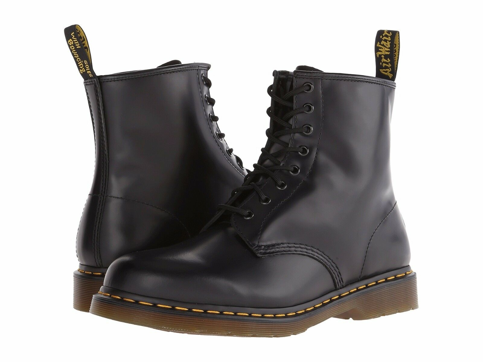 Martens 1460 MONO 8 Eye Leather Boots 14353001 BLACK SMOOTH Men/'s Shoes Dr
