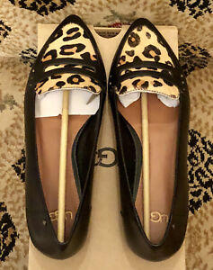 add829c262a Details about UGG Australia Coty Women Flats Calf Hair Leopard Leather  1015236 Loafers Shoes 7