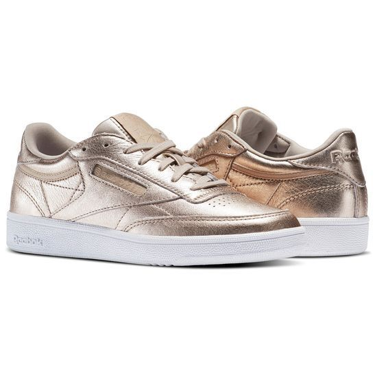 NEW Women's Reebok Classic Club C 85 Melted Metal FREE SHIPPING