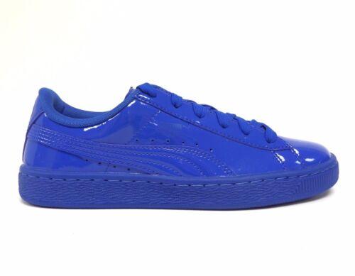 Puma Big Kids/' BASKET CLASSIC PATENT Jr Grade School Shoes Royal 362246-01 a