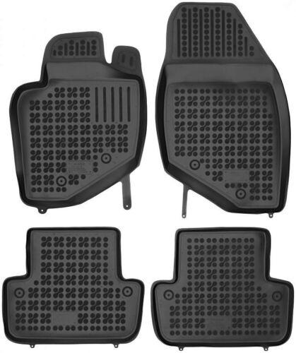 4-teilige schwarze Gummifußmatte für VOLVO S60 01-09 V70 XC70 99-07