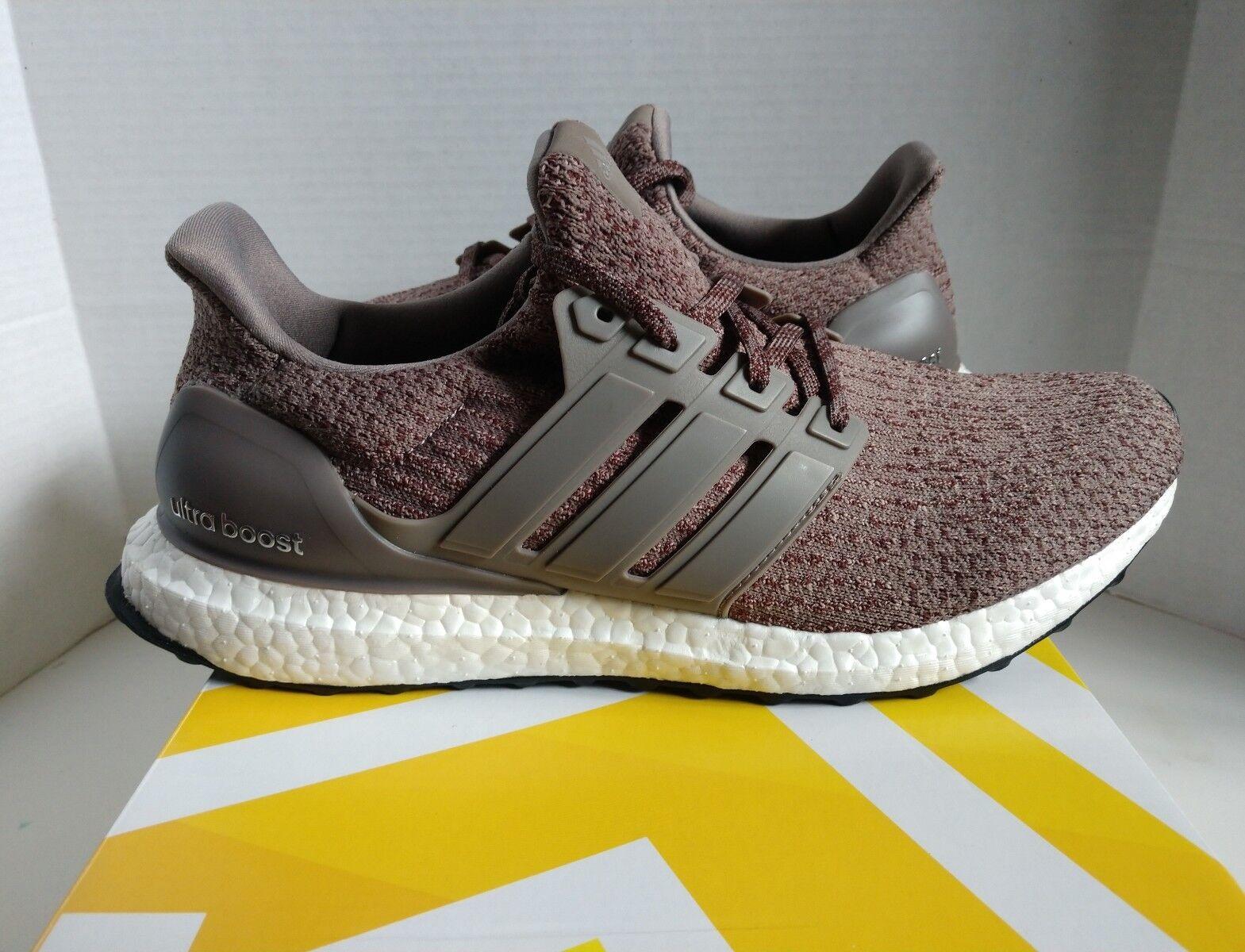 New Adidas Ultra Boost 3.0 Tech Earth Vapour Grey Running Shoe CG3040 Men's 9.5