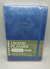 Legend Planner Undated Daily 90 Day Planner Mystic Blue New Amp Sealed