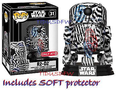 Preorder PROTECTOR! Funko Pop R2-D2 Set of 2 Stormtrooper Futura Target