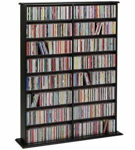Prepac Double Width Wall Storage Cabinet with Adjustable shelves, Black BMA0640