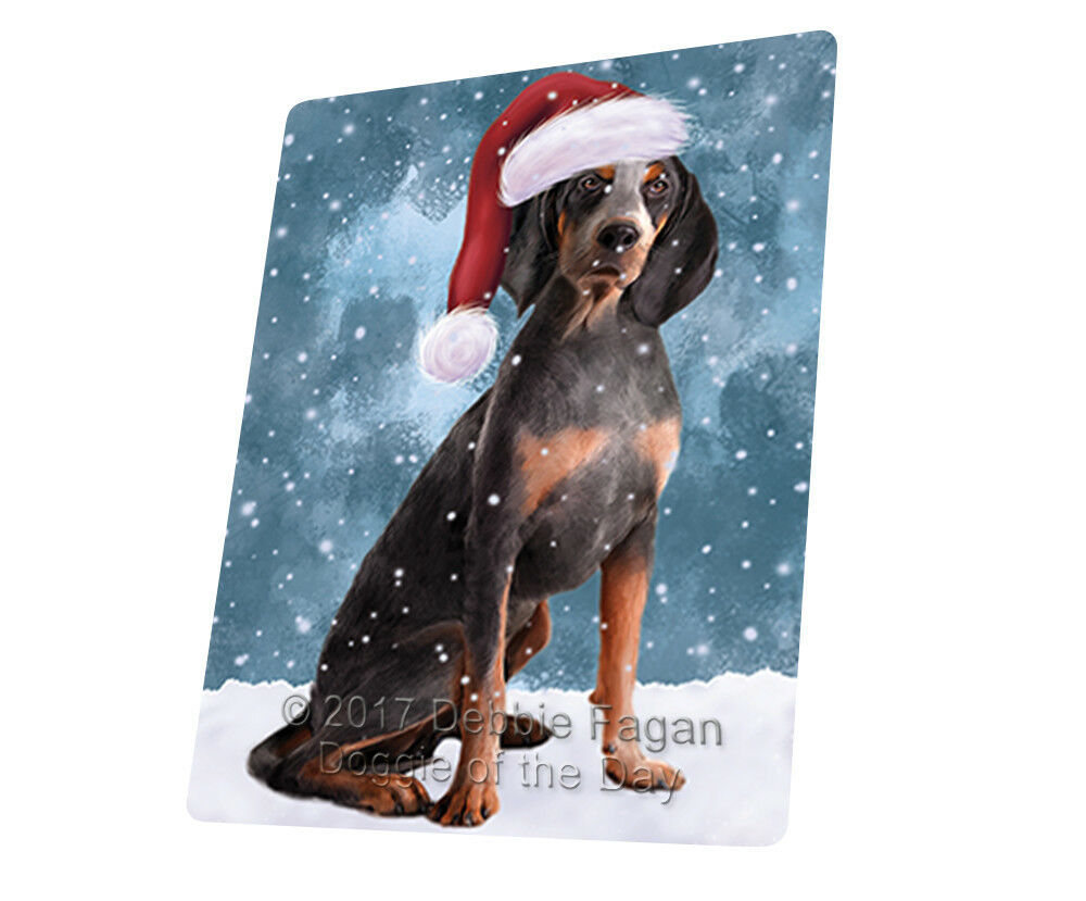 Let it Snow American English Coonhound Dog Woven Throw Sherpa Blanket T51
