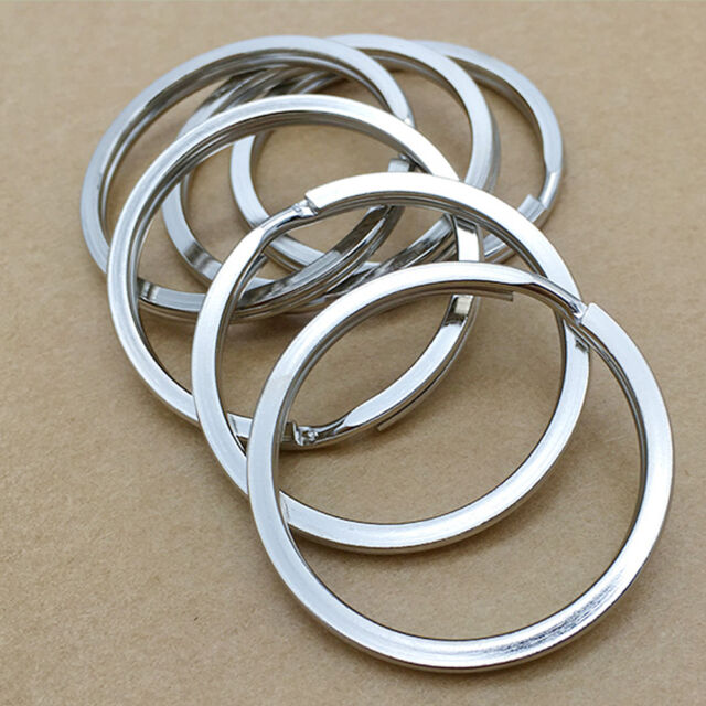 10Pcs Metal Key Holder Split Rings Keyring Keychain Keyfob Accessories 25mm New