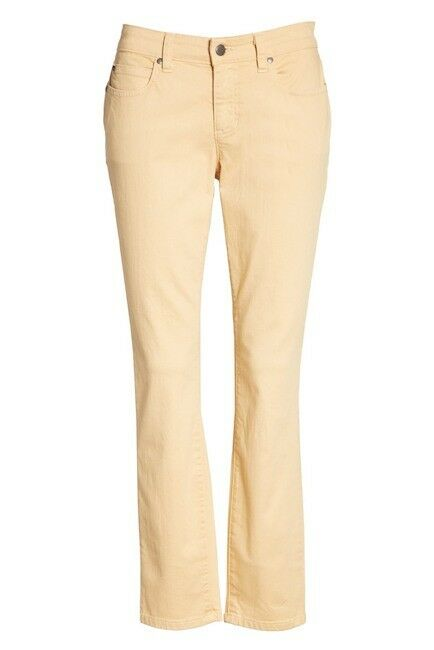 NWT EILEEN FISHER Faded orange Pekoe Org Cotton Skinny Ankle Jeans  168  8 10 14