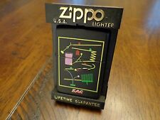 ZIPPO AND CASE AUDIO KINETIC BALL MACHINE ZAC ZIPPO LIGHTER MINT IN BOX 1996