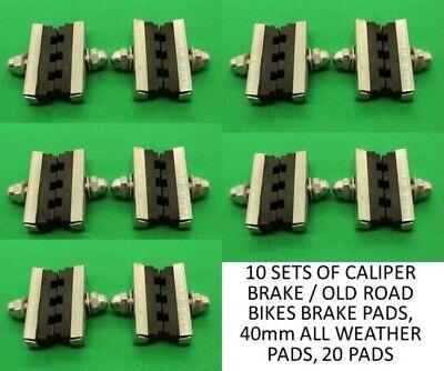40mm Pads 2 Pairs Of Cycle Bike Calliper Brake Blocks Pads Brand New