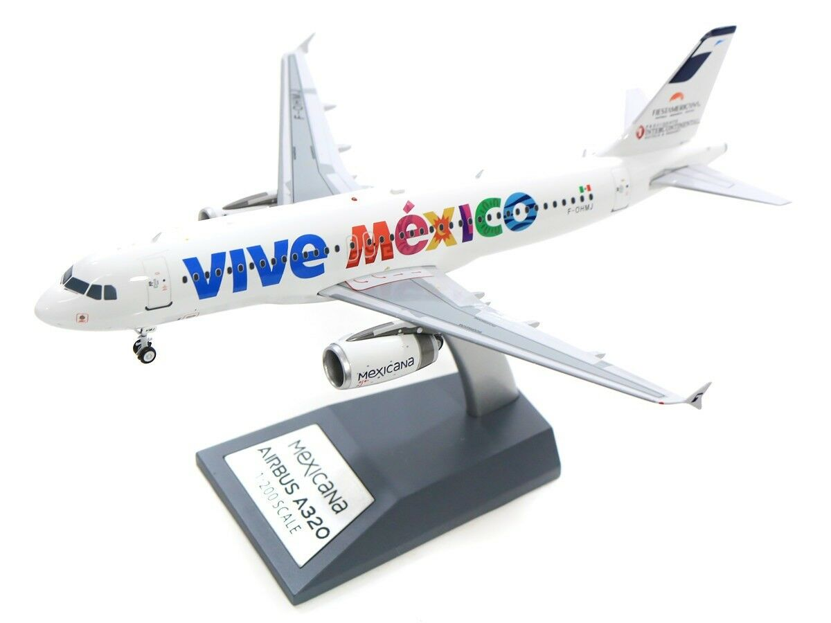 INFLIGHT 200 IF3200717 1/200 Mexicana AIRBUS A320-200 F-ohmj vive MESSICO CON SUPPORTO