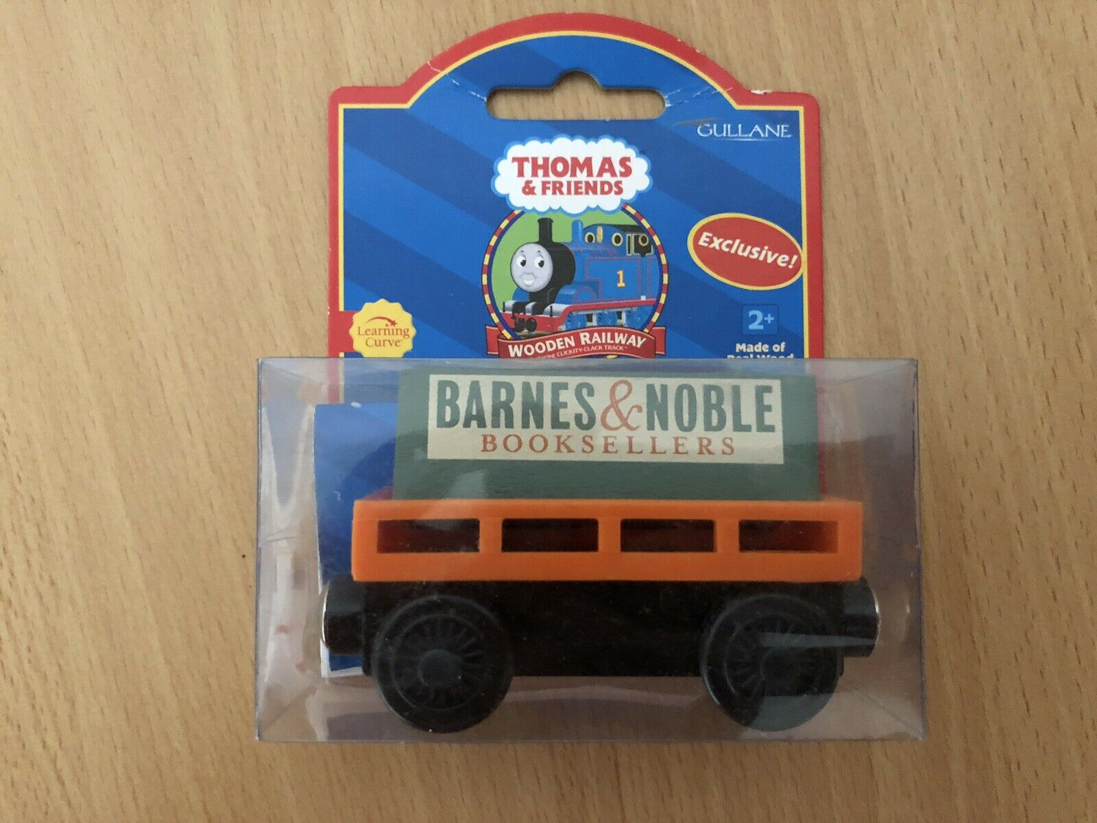 2001 Learning Curve Red Label Wooden Thomas Train Barnes & Noble Cargo Car  NIB