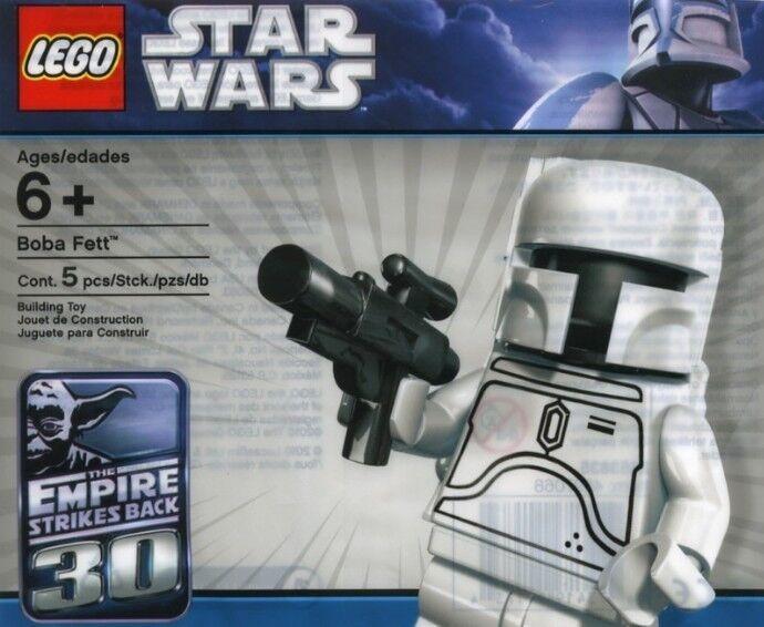 Toison Toison Toison aime les Jeux olympiques, la phrase d'or envoie un cadeau Lego Star Wars White Boba Fett 2853835 Polybag BNIP 739168