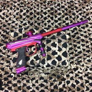 USED-Proto-Paintball-Reflex-Rail-Paintball-Gun-Marker-Purple-Dust-Red