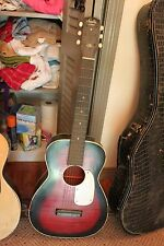 Stella acoustic made USA 60-70's, 6 string guitar avg cond, 3/4 size, dot inlays