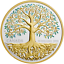 2018 TREE OF LIFE 1OZ Pure Silver Gold-Plated Proof $20 Coin Canada