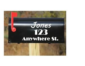 Details About Personalized Mailbox Numbers Decals Set Of 2 5 X 11 Vinyl Decal