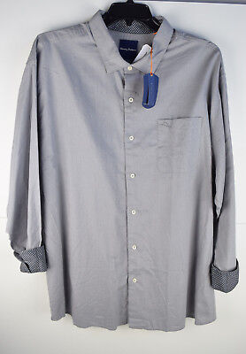 NWT TOMMY BAHAMA Mens Button up 3XT $115 down Grey Size 2XB 3XB
