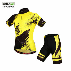 Men-039-s-Cycling-Jersey-Set-MTB-Shorts-Bicycle-Short-Sleeve-Outfits-Bike-Clothing