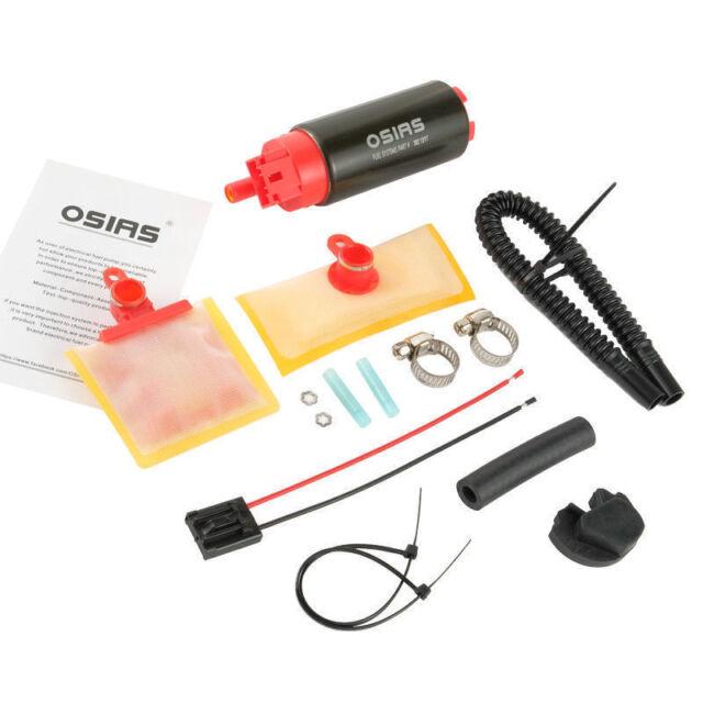 New OSIAS 340LPH High Performance Fuel Pump /& Install Kit GSS342 Update
