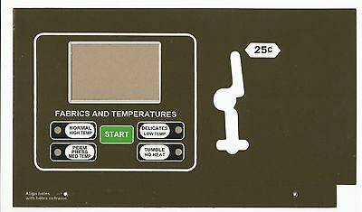 Super-Tuff TM Overlay 413948 for Huebsch single Dryer Comp. Touch Pad