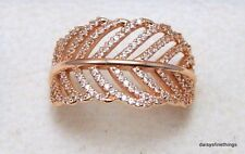 8ea7b2d19 ... coupon code authentic pandora rose gold ring light as a feather  180886cz hinged box new authentic
