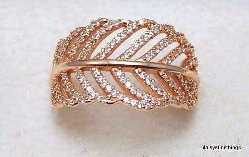 3612afc600542 NWT AUTHENTIC PANDORA ROSE™ GOLD RING LIGHT AS A FEATHER #180886CZ HINGED  BOX