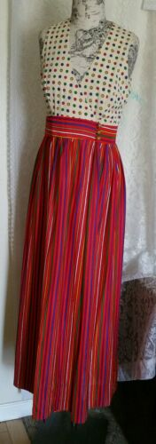 Vintage 1960's-70's Keyloun Bold Color Striped and