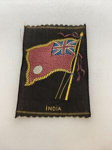 Vintage India Tobacco Silk the American Tobacco Co. Silk Flag Premium 3x2