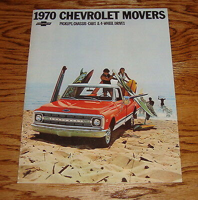1970 Chevrolet Movers Pickups Chassis Cabs 4WD Trucks Sales Brochure 8//69