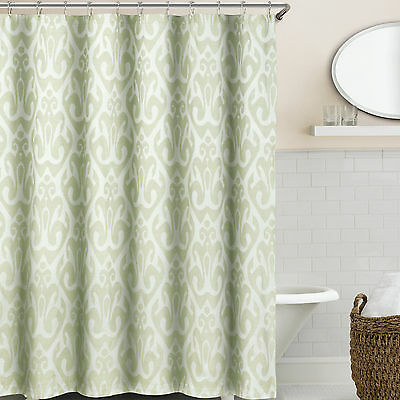 "Shower Curtain Mold and Mildew Free Waterproof Fabric Bath 72/""x72/"" SeaFoam Green"