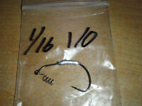 25 1/16oz Weighted Hooks With Hitching Posts Sizes 1/0 - 6/0 Your Choice