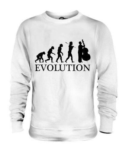 DOUBLE BASS PLAYER EVOLUTION OF MAN UNISEX SWEATER  Herren Damenschuhe LADIES GIFT
