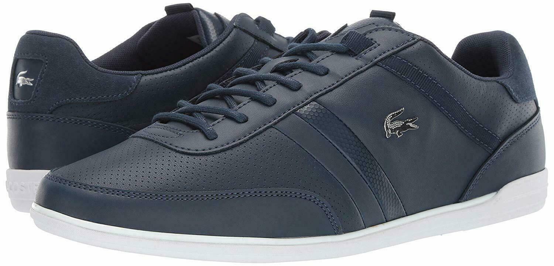 Para Hombres Zapatos Lacoste GIRON 119 Cuero Moda Tenis Azul Marino blancoo (173)