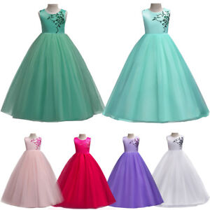 9dd91d8109 Big Girls Kid Princess Wedding Flower Girl Dress Birthday Communion ...