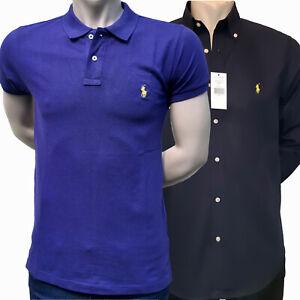 Polo-Ralph-Lauren-Poloschirt-Hemd-Custom-Fit-Slim-Fit-mehrere-Farben
