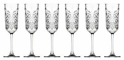 Pasabahce 440356 Sektglas Champagner Glas Timeless im Kristall-Design 6-teilig