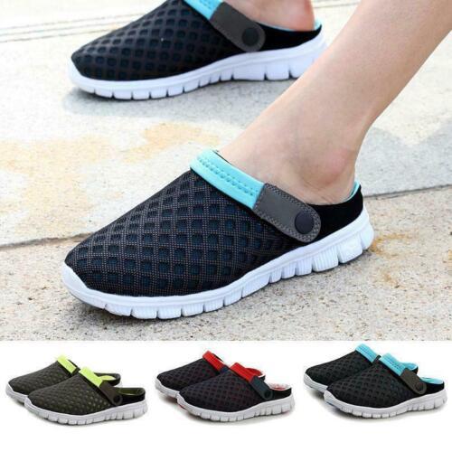 Men/'s Slippers Flats Breathable Mesh Hollow Out Sandals Summer Beach Sun Shoe