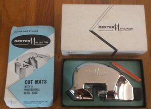 Vintage Russell Harrington Cutlery Dexter Mat Cutter With Blades Amp Instructions Ebay