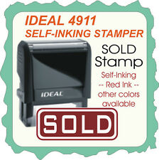 Sold Custom Made Ideal Trodat Self Inking Rubber Stamp 4911 Red Ink