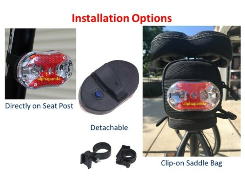 Bike Cycling Waterproof Head Tail Rear Light Flashing Safety LED Zoomable CREE