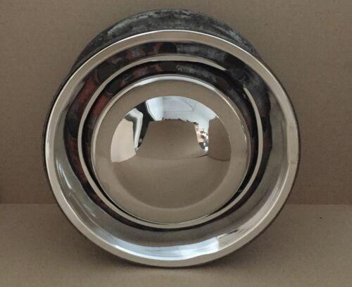 "Classic Stainless Steel Mini Hub Cap for 10/"" Wheel."