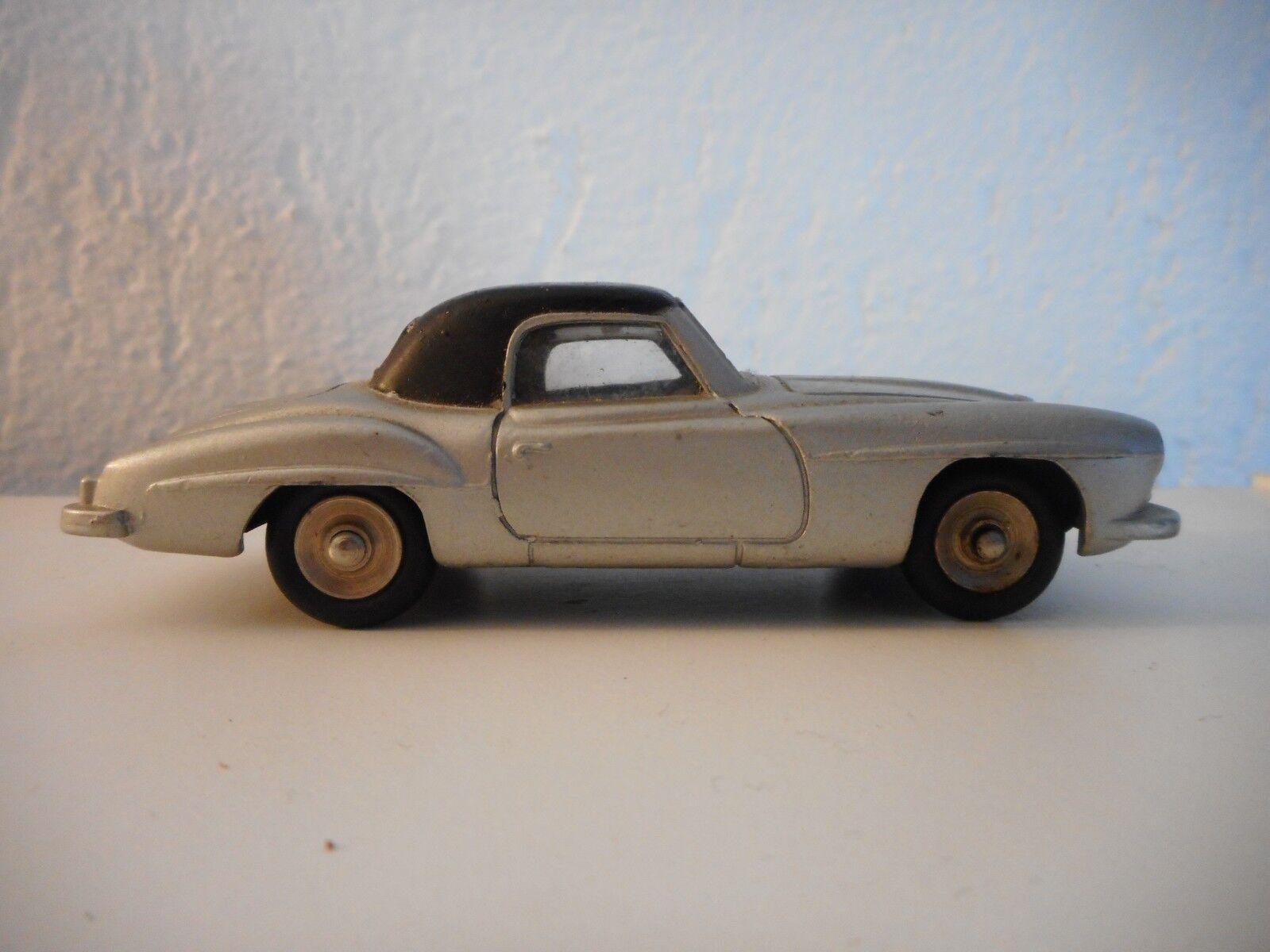 DINKY ancien Mercedes 190SL grisE avec vitres et jantes concaves ref 24H pas 526