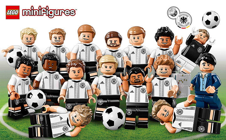 NEW SEALED LEGO 71014 Box Case of 60 DFB (German Soccer Team) MINIFIGURES SERIES
