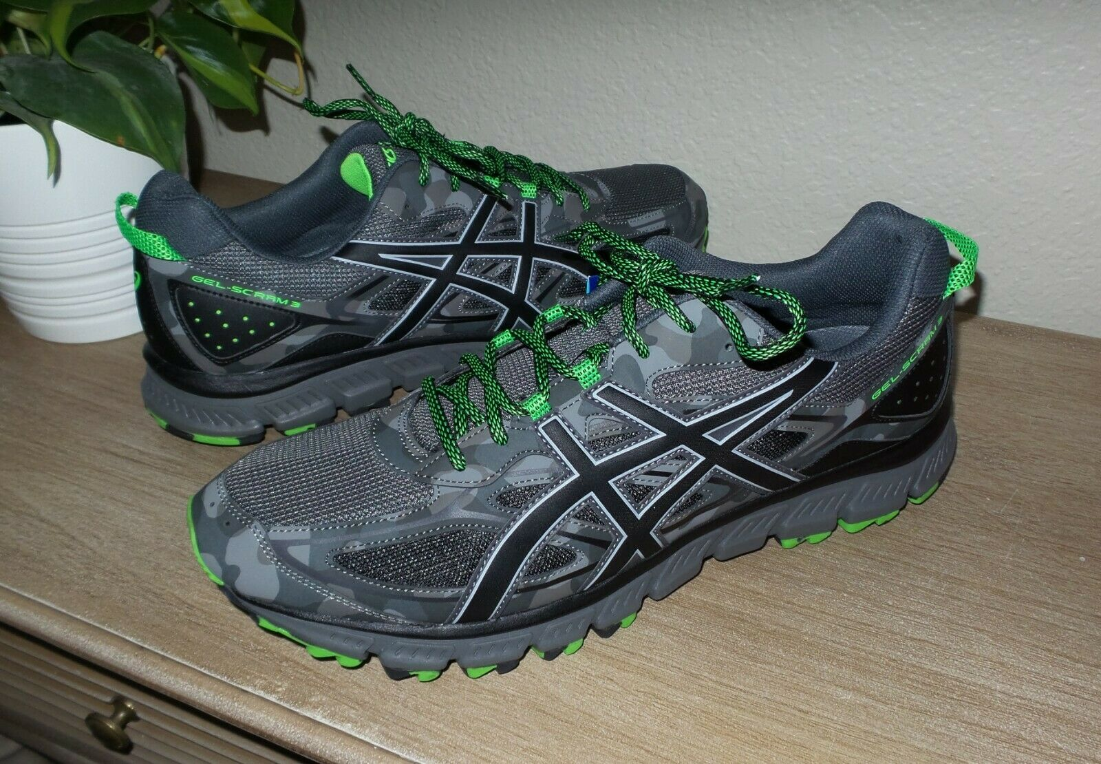 Men's Men's Men's ASICS Gel-Scram 3 Trail Running shoes Athletic Sneakers 15 NEW Camouflage 7f1ae5