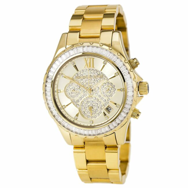 Michael Kors Women's MK5810 Watch Madison Crystal Gold Tone Dial and Bracelet