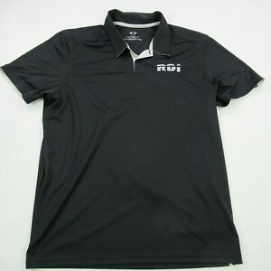 Oakley-Mens-Polo-Shirt-Black-Short-Sleeve-XL-Performance-Soft-Golf-Casual