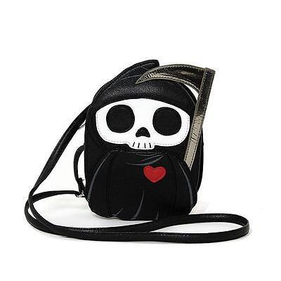 Grim Reaper Death with Scythe Cross Body Bag Purse Alternative Kawaii Punk Goth